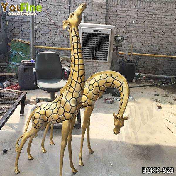 Bronze Metal Giraffe Garden Statues Wholesale