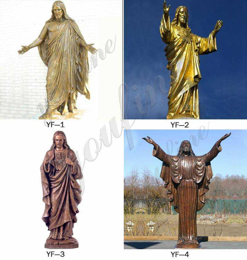 Bronze crucifixion of Jesus statues