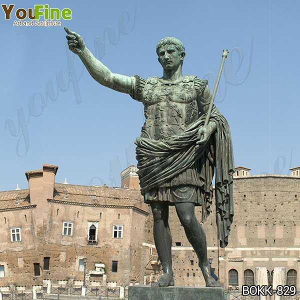 Bronze statue of the Emperor Augustus Caesar Replica