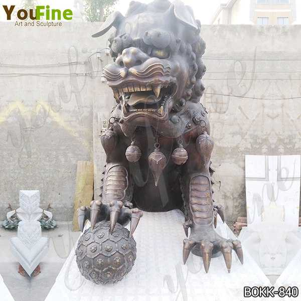 Casting Large Bronze Chinese Lion Statues Factory Supply