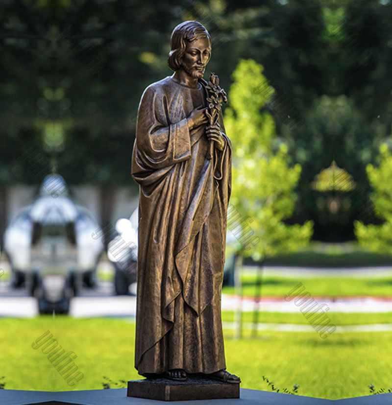 Catholic Life Size Bronze Saint Joseph Garden Statue