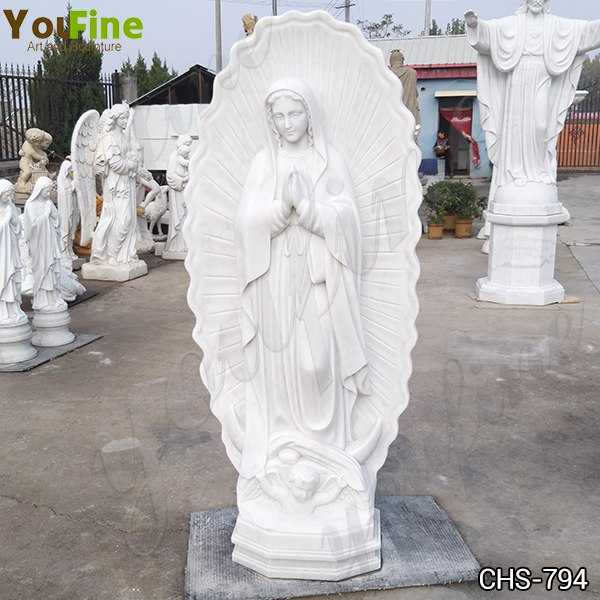 Catholic Our Lady of Guadalupe Outdoor Marble Statue for Sale