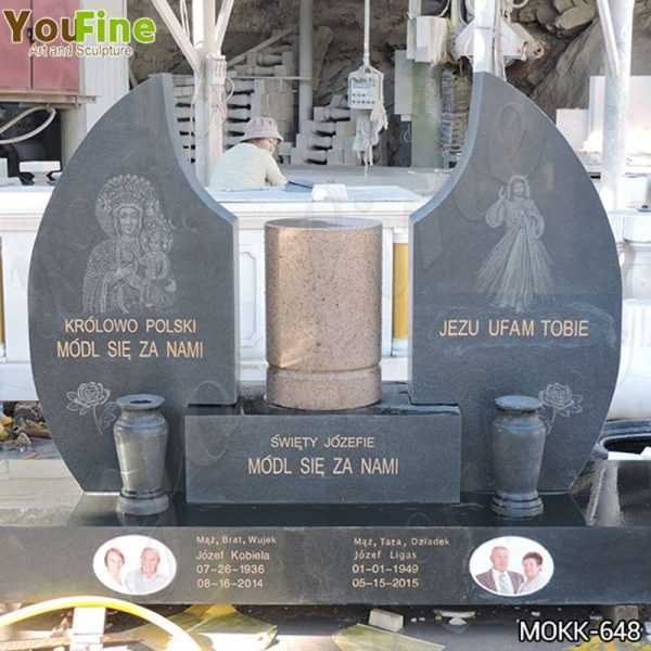 High Quality Church Granite Tombstone for Cemetery Suppliers MOKK-648