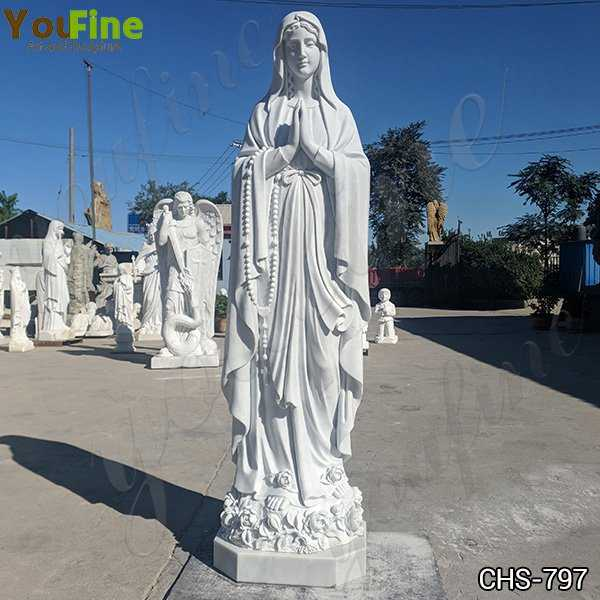 Classic Catholic White Marble Our Lady of Lourdes Statue for Sale CHS-797