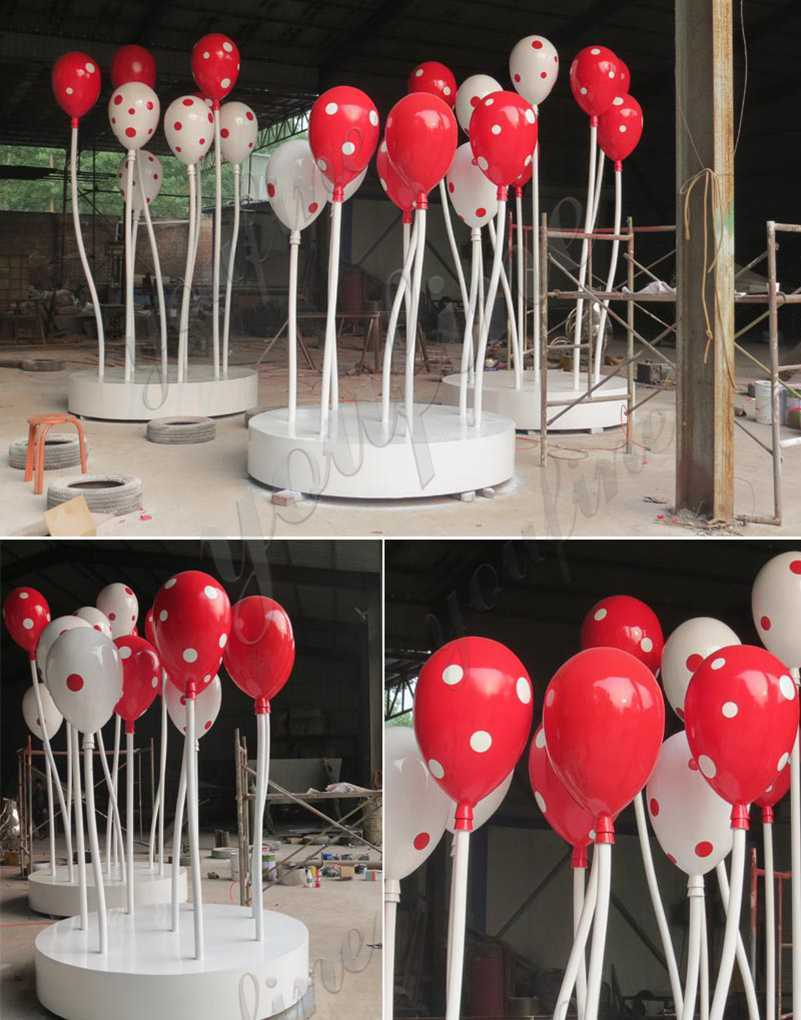 Colorful Outdoor Stainless Steel Balloon Sculptures for Sale