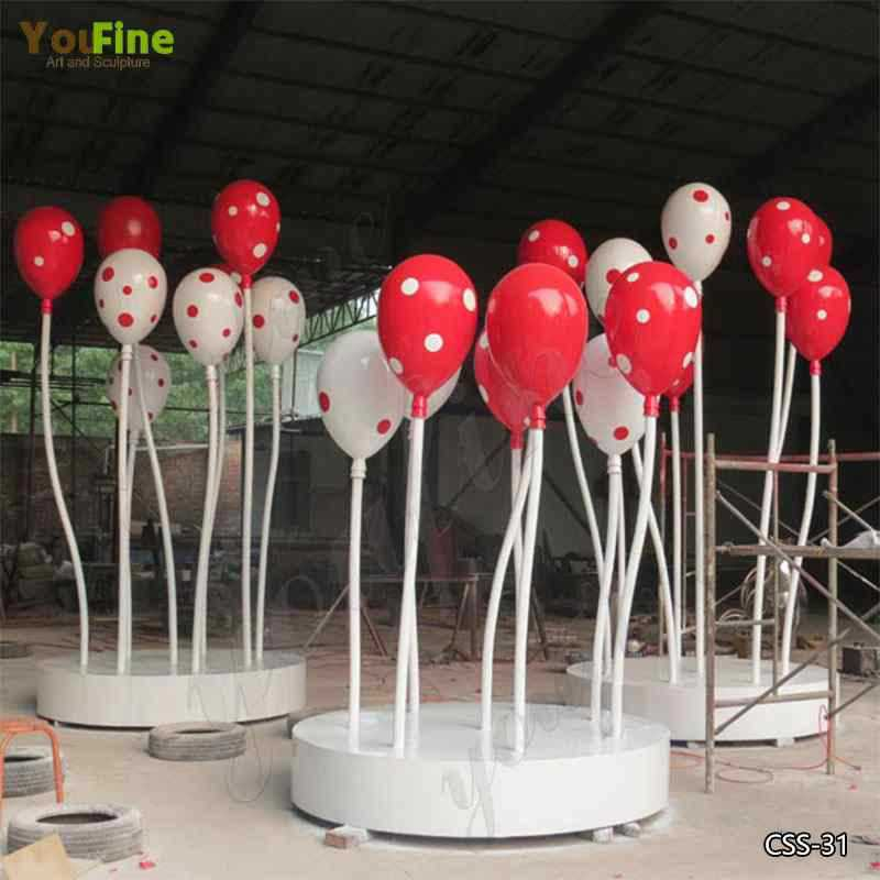Colorful Outdoor Stainless Steel Balloon Sculptures for Sale CSS-31