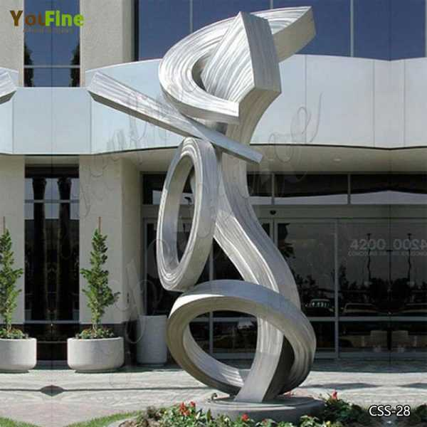 Contemporary Modern Abstract Stainless Metal Sculpture Manufacturers
