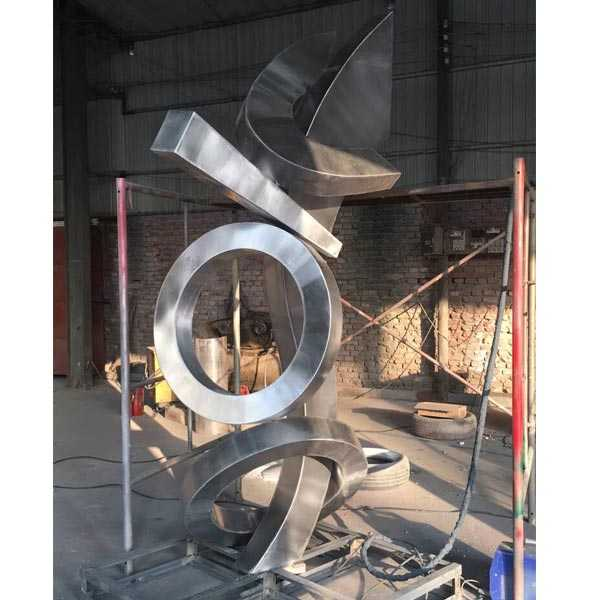 Contemporary Modern Abstract Stainless Metal Sculpture