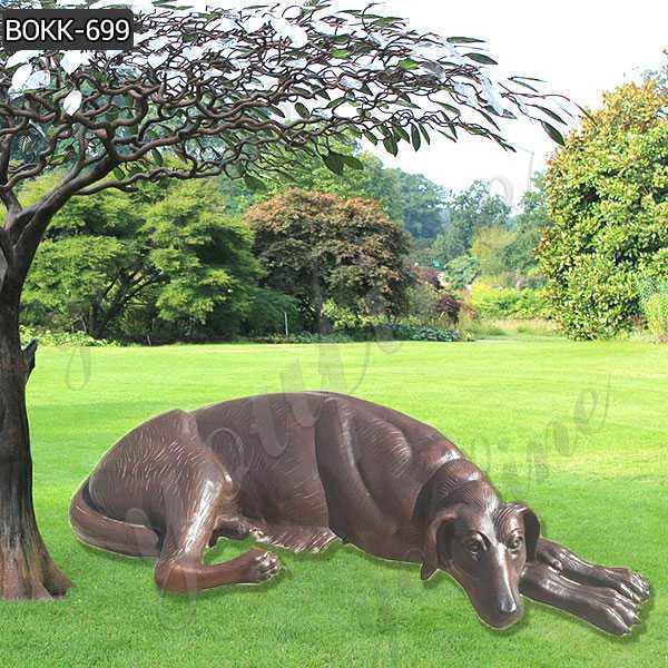 Custom Made Cast Solid Bronze Dog Sculpture