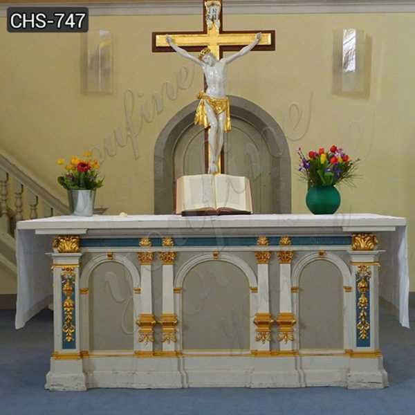 Custom Made Catholic Church Marble Altar Table for Sale