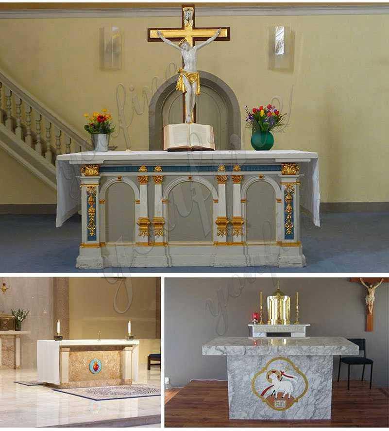 Custom Made Catholic Church Marble Altar Table