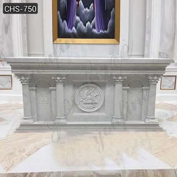 Customized Religious Marble Altar Table Factory Suppliers