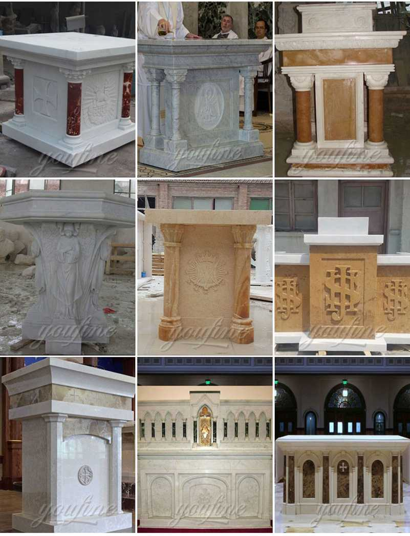 Customized Religious Marble Altar Table Factory