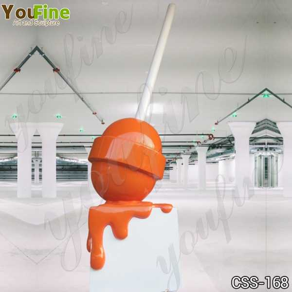 Decorative Modern Metal Lollipop Stainless Steel Sculptures