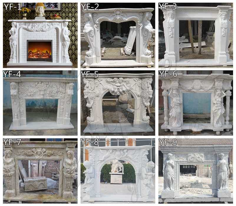Elegant White Marble Fireplace Surround