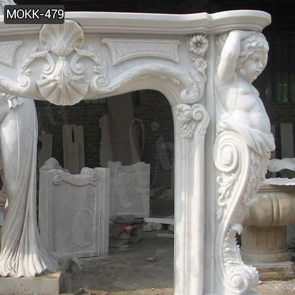 French Style White Marble Fireplace Surround Suppliers