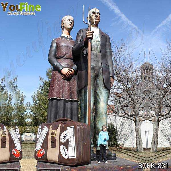 Giant Outdoor Brozne Old Couples Statue Grounds for Sculpture for Sale BOKK-831