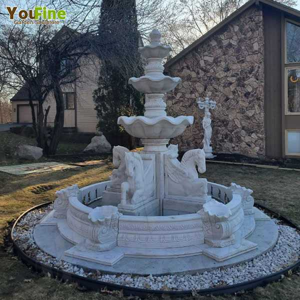 Good Feedback of Hot Selling Tiered Marble Water Fountain from American Client