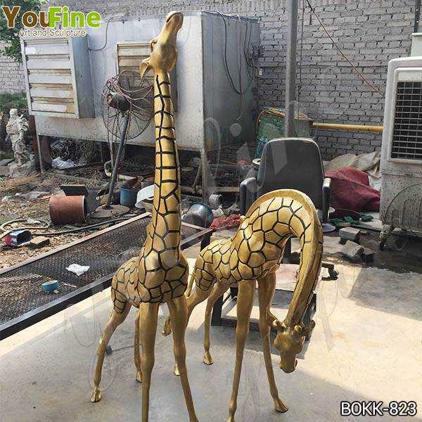 Large Bronze Metal Giraffe Garden Statues Wholesale BOKK-823