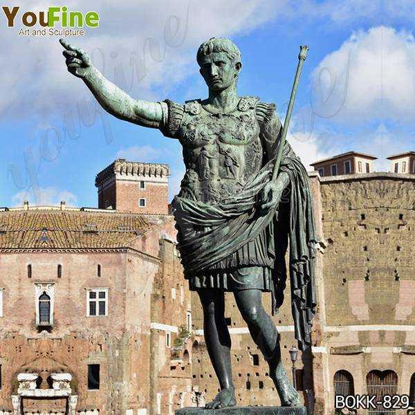 Large Bronze statue of the Emperor Augustus Caesar Replica