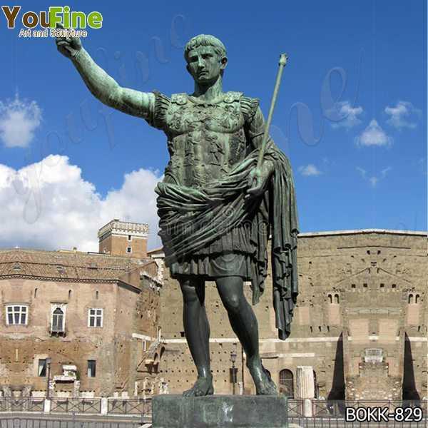 Large Bronze statue of the Emperor Augustus Caesar