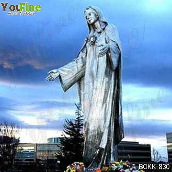 Large Famous Our Lady of Peace Shrine Bronze Statue for Sale