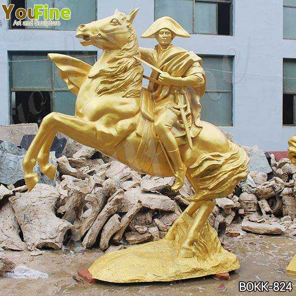 Large Golden Bronze Knight on Horse Statue Suppliers