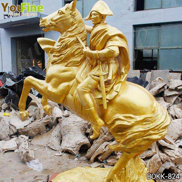 Large Golden Bronze Knight on Horse Statue Suppliers BOKK-824