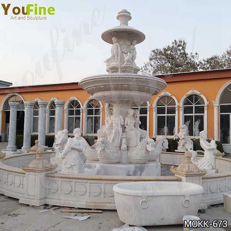 Outdoor Large Greek Marble Statue Water Fountain for Sale MOKK-673