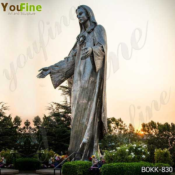 Large Our Lady of Peace Shrine Bronze Statue for Sale
