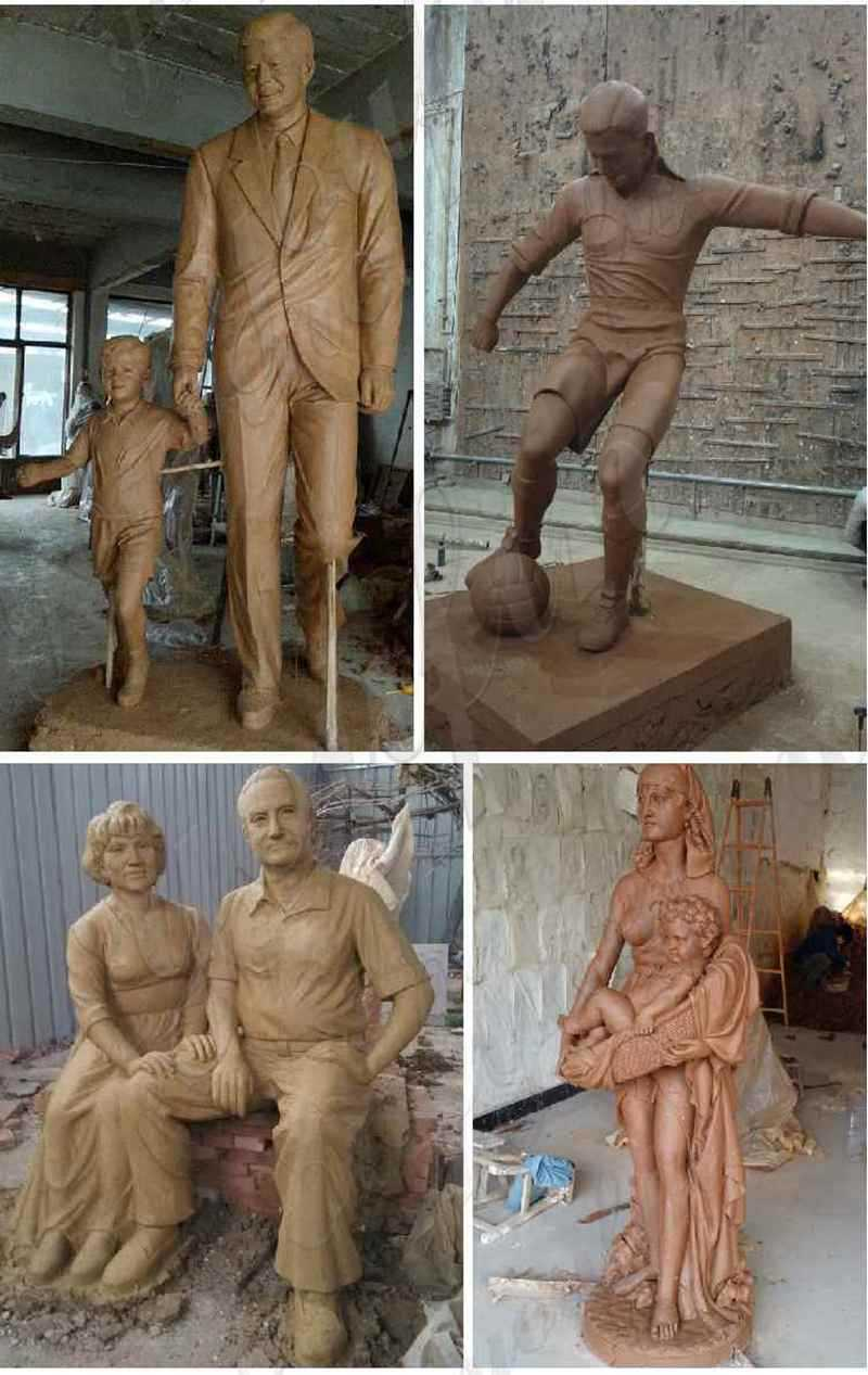 Large bronze statues project for sale
