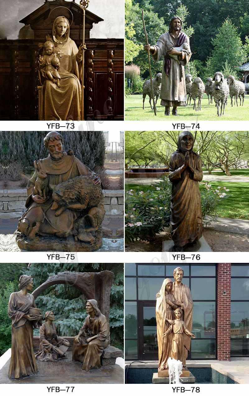Life Size Bronze Saint Joseph Garden Statue Suppliers