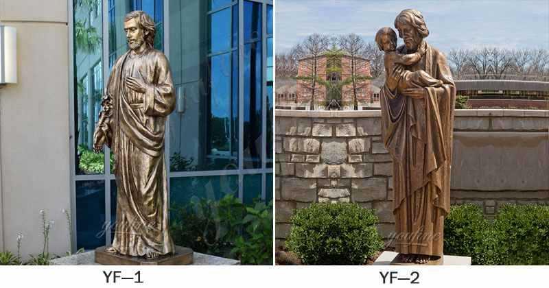 Life Size Bronze Saint Joseph Garden Statue