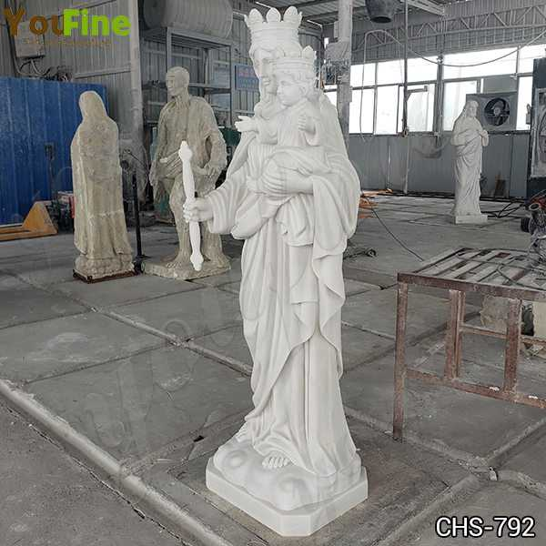 Life Size Our Lady of Perpetual with Baby Marble Statue Suppliers
