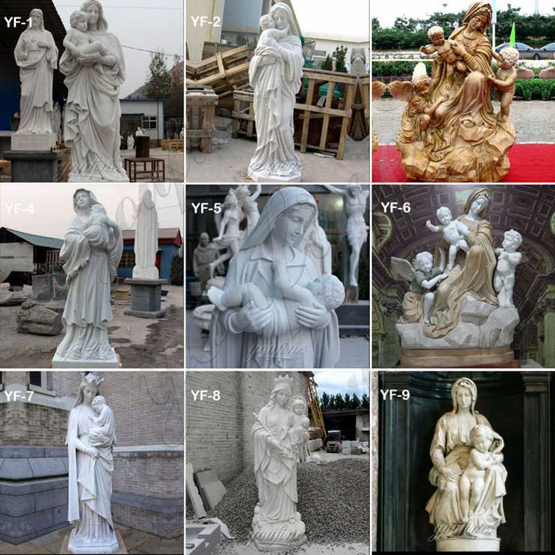 Madonna and child statue for sale