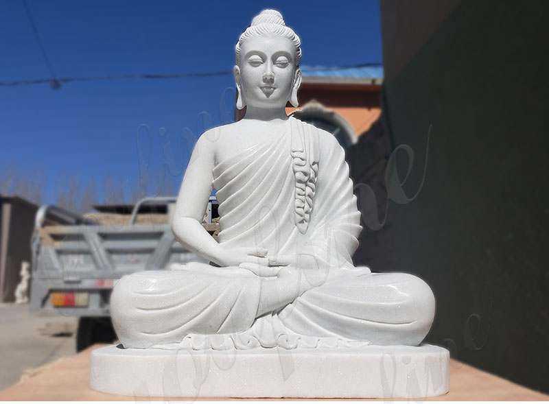 Marble Buddha Statue for Garden Decor