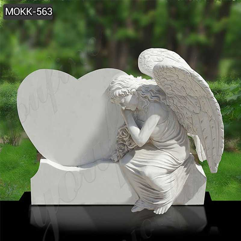 Marble and Granite Weeping Angel Statue Headstone Wholesale MOKK-563