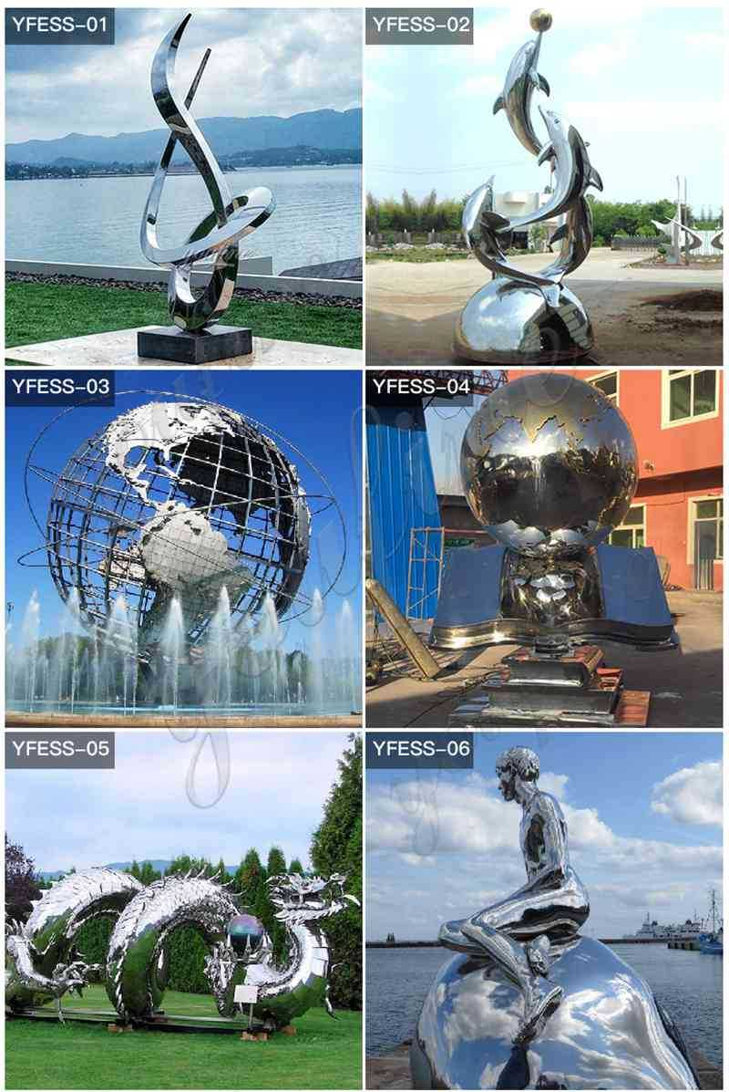 Modern Abstract Stainless Steel Metal Sculptures
