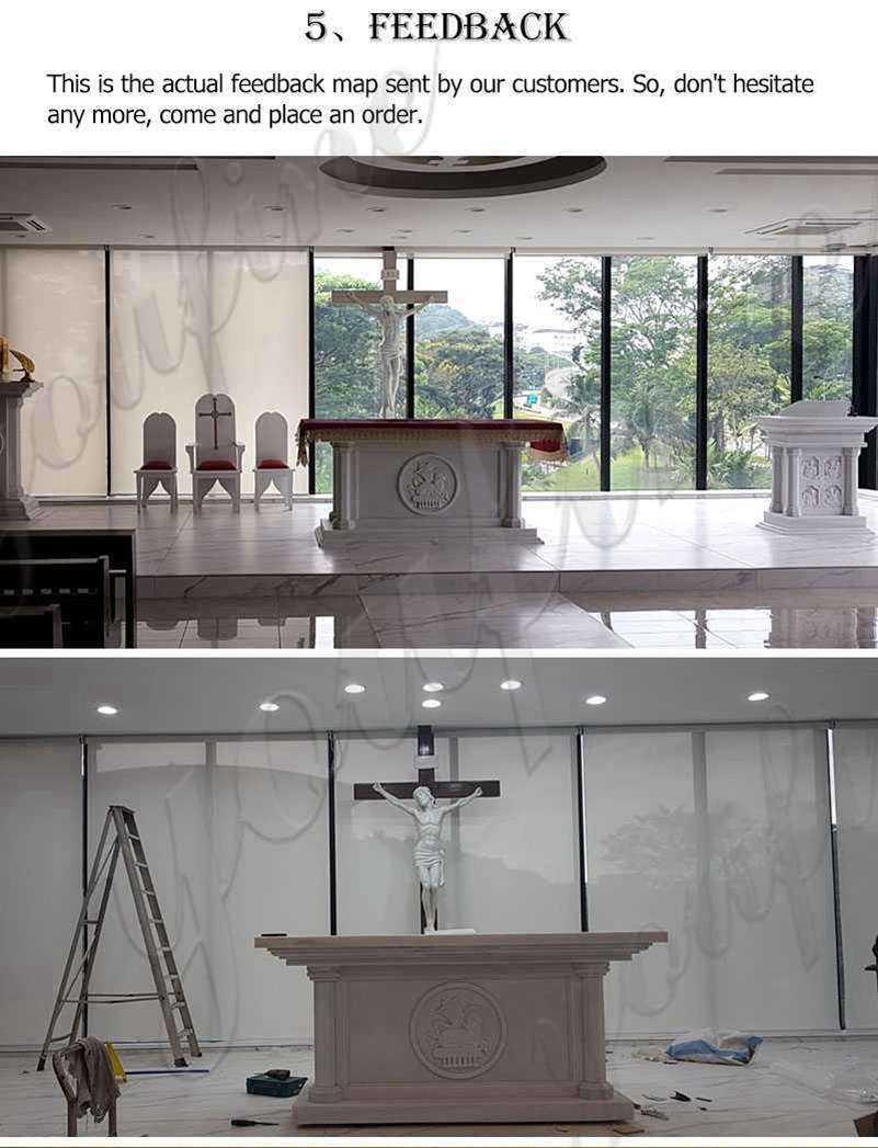 Modern Church Marble Altar Table Design for Sale