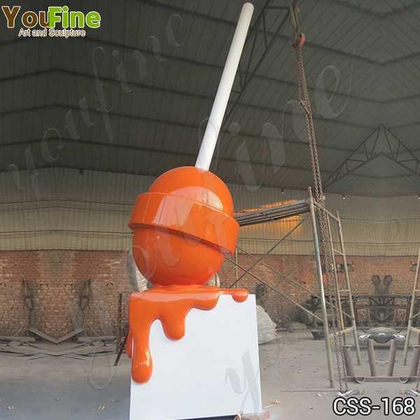 Modern Lollipop Stainless Steel Sculptures