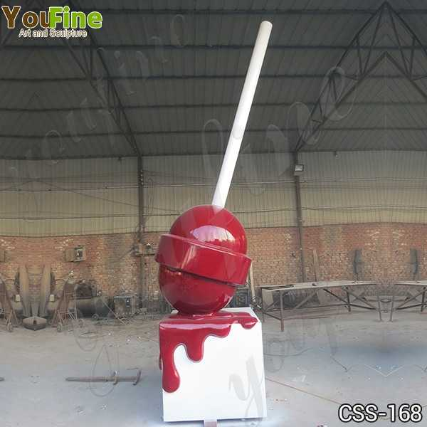Modern Metal Lollipop Stainless Steel Sculptures