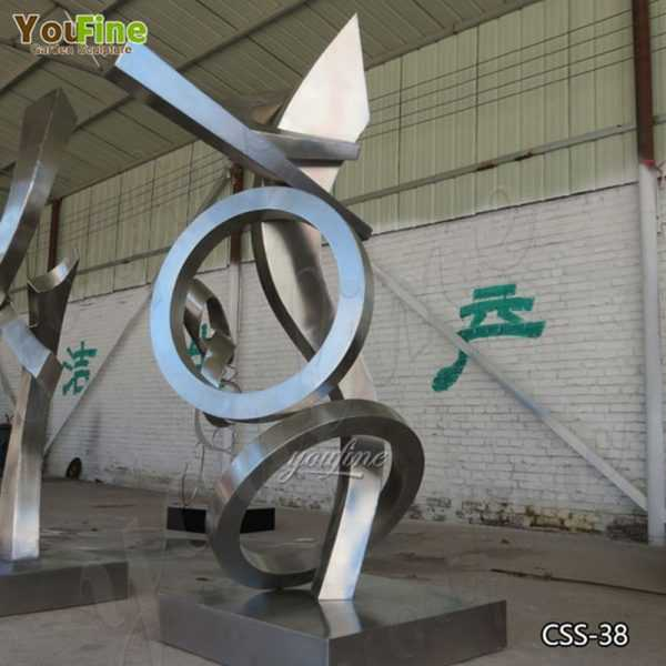 Modern Urban Abstract Stainless Steel Metal Sculptures for Sale