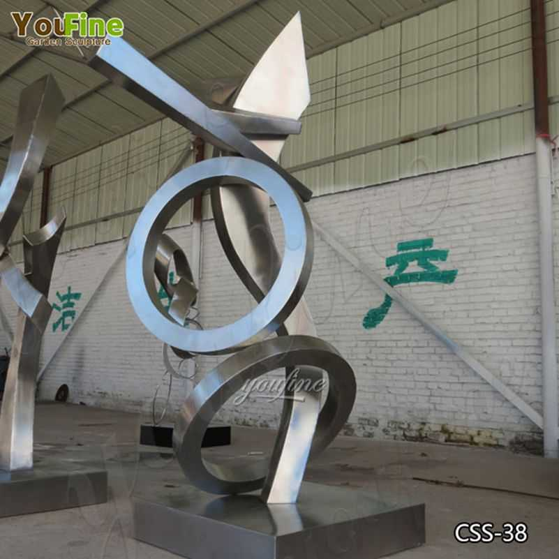 Modern Urban Abstract Stainless Steel Metal Sculptures for Sale CSS-38