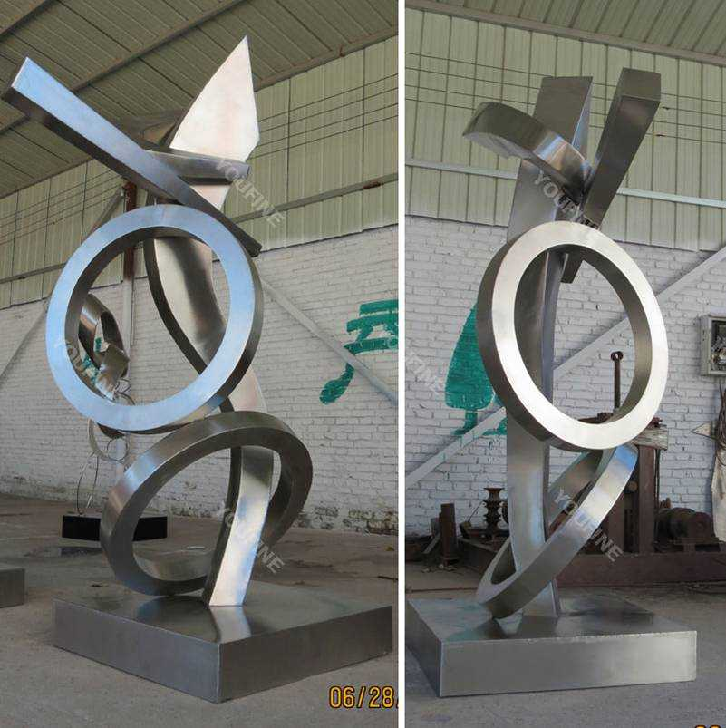 Modern Urban Abstract Stainless Steel Metal Sculptures