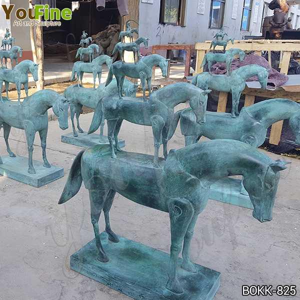 New Antique Bronze Metal Horse Sculpture Design for Sale