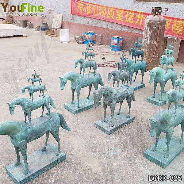 New Bronze Metal Horse Sculpture Design for Sale