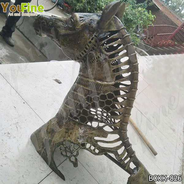 New Design Solid Bronze Horse Head Statue Manufacturer