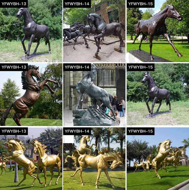New Design Solid Bronze Horse Statue Manufacturer