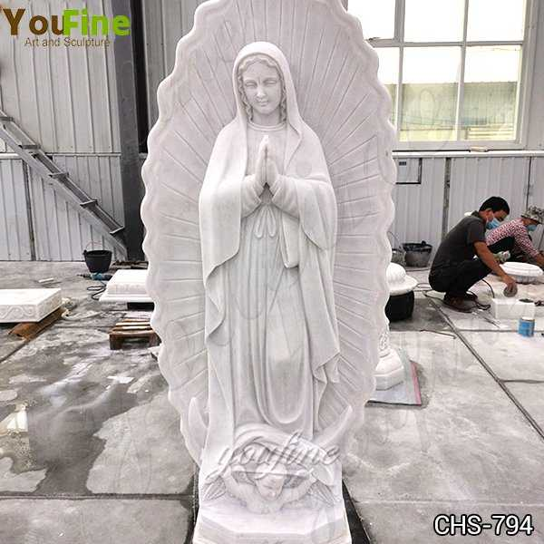 Our Lady of Guadalupe Outdoor Marble Statue for Sale
