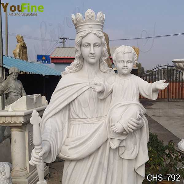 Our Lady of Perpetual with Baby Marble Statue Suppliers